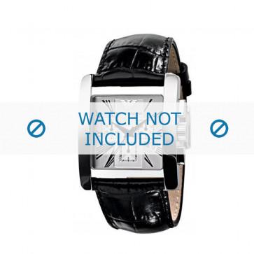 Armani bracelet de montre AR-0186 Cuir croco Noir 28mm