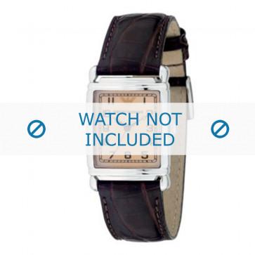 Bracelet de montre Armani AR0204 Cuir Brun 18mm
