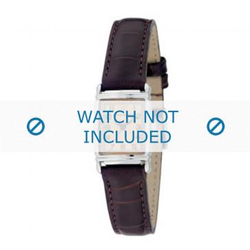 Armani bracelet de montre AR-0205 Cuir croco Brun foncé 14mm