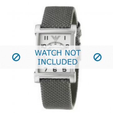 Armani bracelet de montre AR-0222 Textile Gris 22mm
