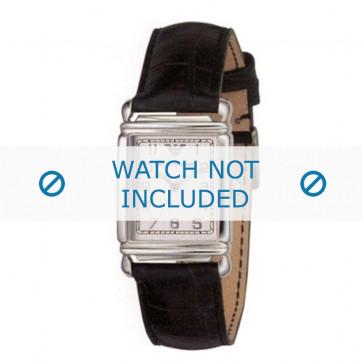 Armani bracelet de montre AR-0232 Cuir croco Noir 18mm