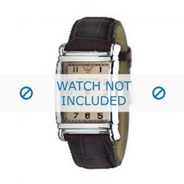 Bracelet de montre Armani AR0234 / AR0402 Cuir Brun 26mm