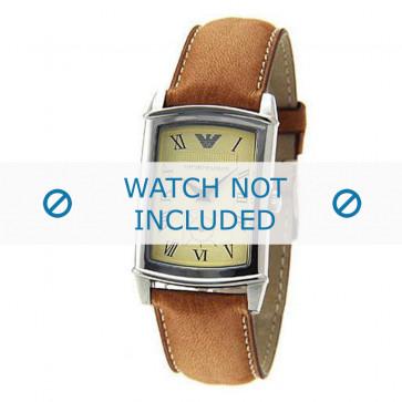 Armani bracelet de montre AR-0235 Cuir Brun 21mm