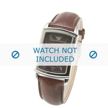 Armani bracelet de montre AR0237 Cuir Brun 21mm