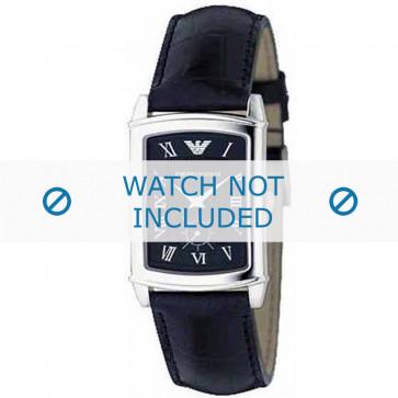 Armani bracelet de montre AR-0239 Cuir croco Noir 20mm