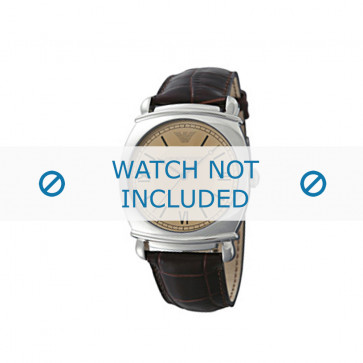 Bracelet de montre Armani AR0264 Cuir Brun 24mm
