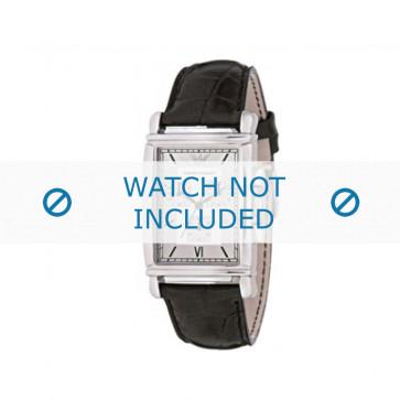 Bracelet de montre Armani AR0284 Cuir Noir 22mm