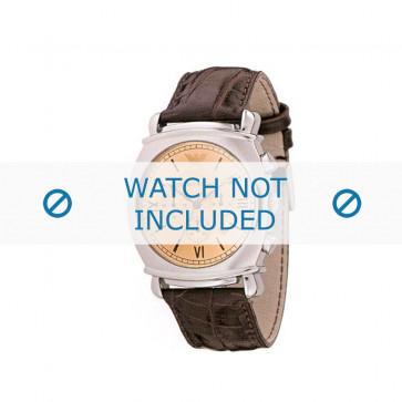 Bracelet de montre Armani AR0286 Cuir Brun 24mm