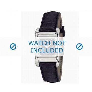 Armani bracelet de montre AR-0303 Cuir Noir 12mm