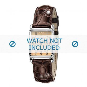 Bracelet de montre Armani AR0404 Cuir Brun 18mm