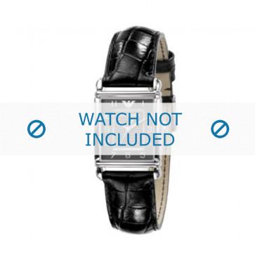Armani bracelet de montre AR-0424 Cuir croco Noir 18mm
