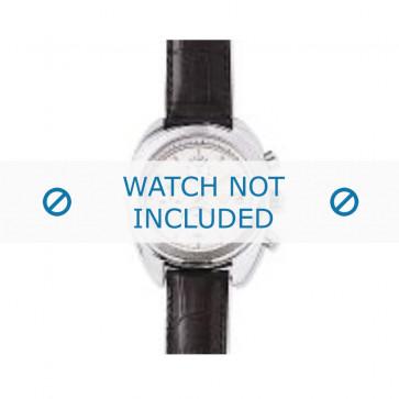 Armani bracelet de montre AR-0500 Cuir croco Noir 17mm