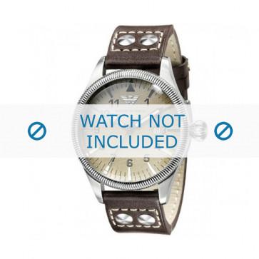Bracelet de montre Armani AR0513 Cuir Gris anthracite 23mm