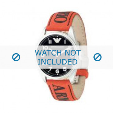 Armani bracelet de montre AR-0515 Textile Orange 23mm