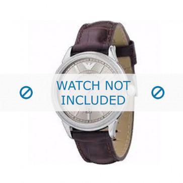 Armani bracelet de montre AR0540 Cuir Bordeaux 21mm + coutures brunes