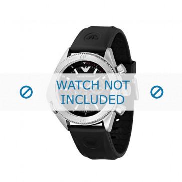 Armani bracelet de montre AR0548 / AR-0548 / AR 0548 Vanille Métal Noir 23mm