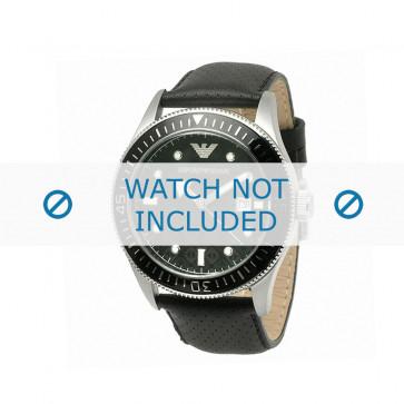 Bracelet de montre Armani AR0555 Cuir Noir 26mm