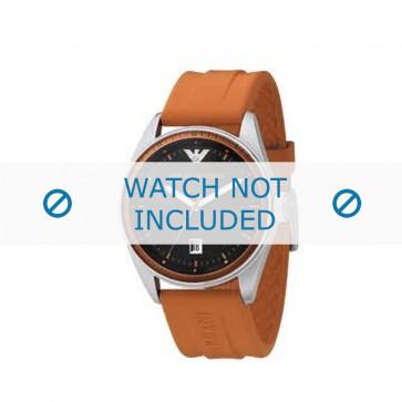 Armani bracelet de montre AR-0561 En caoutchouc Orange 23mm