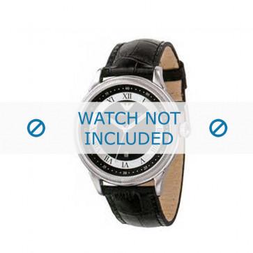 Armani bracelet de montre AR-0564 Cuir croco Noir 21mm