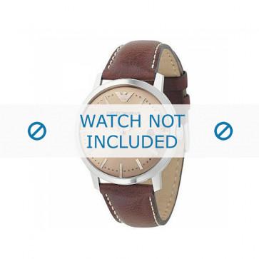 Armani bracelet de montre AR-0573 Cuir Brun 22mm