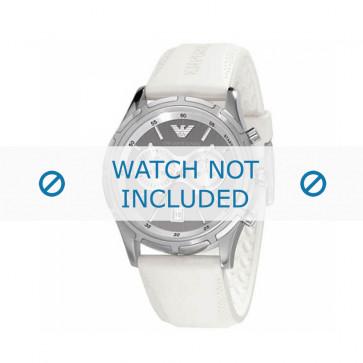 Armani bracelet de montre AR-0582 En caoutchouc Blanc 22mm