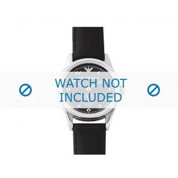 Armani bracelet de montre AR-0605 Cuir Noir 14mm