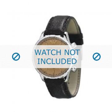Armani bracelet de montre AR-0625 Cuir Brun foncé 20mm