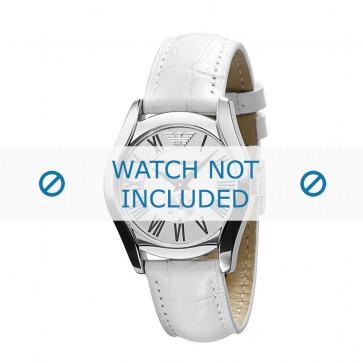 Armani bracelet de montre AR-0697 Cuir Blanc 18mm