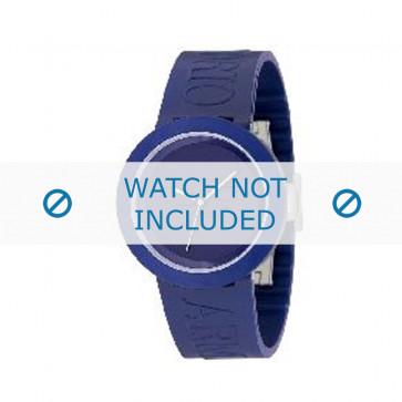Armani bracelet de montre AR-1031 En caoutchouc Bleu 22mm
