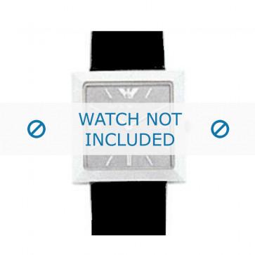Armani bracelet de montre AR-2300 Cuir Noir 23mm