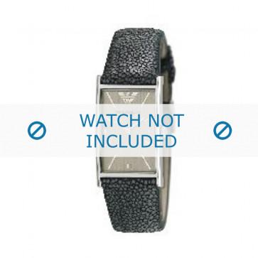 Armani bracelet de montre AR-2409 Cuir Gris 22mm