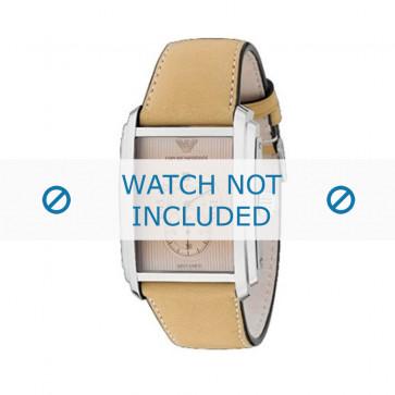 Armani bracelet de montre AR-4202 Cuir Blanc creme 26mm