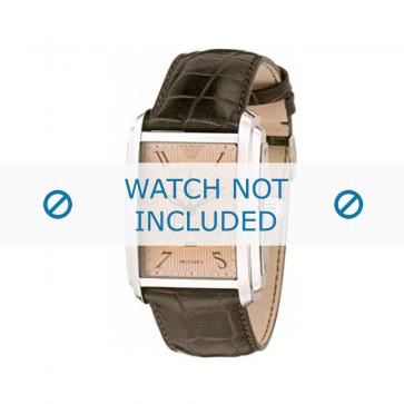 Armani bracelet de montre AR-4205 Cuir croco Brun 26mm