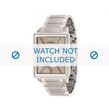 Armani bracelet de montre AR-4207 Métal Argent 22mm