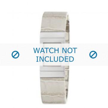 Armani bracelet de montre AR-5482 Cuir croco Blanc creme 18mm