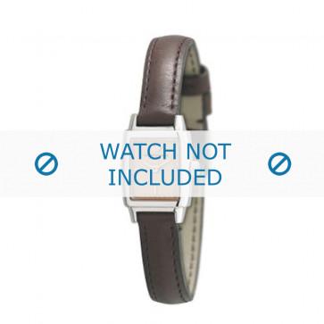 Armani bracelet de montre AR-5507 Cuir Brun foncé 11mm