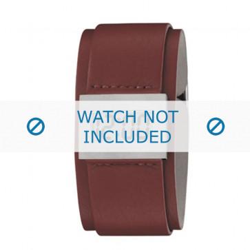 Armani bracelet de montre AR-7001 Cuir Blanc creme