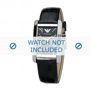 Bracelet de montre Armani AR0144 / AR0257 Cuir Noir 18mm