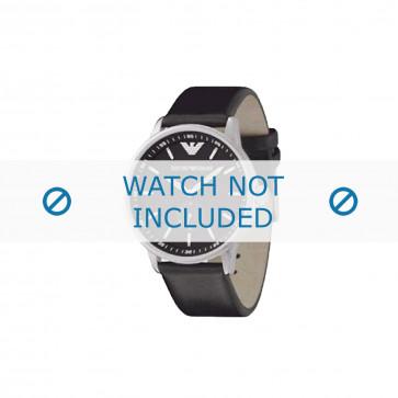 Armani bracelet de montre AR-0611 Cuir Noir 20mm