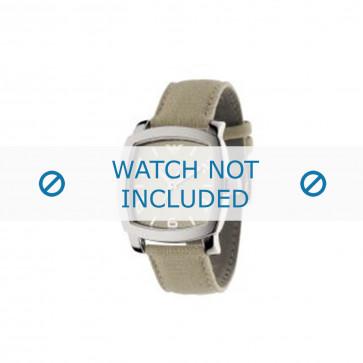 Armani bracelet de montre AR-5802 Textile Blanc creme 24mm