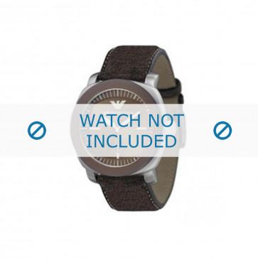 Bracelet de montre Armani AR5819 Cuir Brun