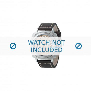 Bracelet de montre Armani AR5831 Cuir Brun 23mm