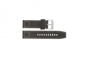 Armani bracelet de montre AR-5833 Cuir Brun foncé 23mm