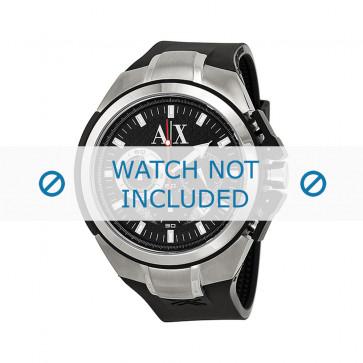 Armani bracelet de montre AX1042 Silicone Noir 32mm