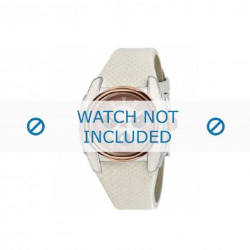 Breil bracelet de montre BW0383 / F260053231 / BW0384 Cuir Blanc 25mm