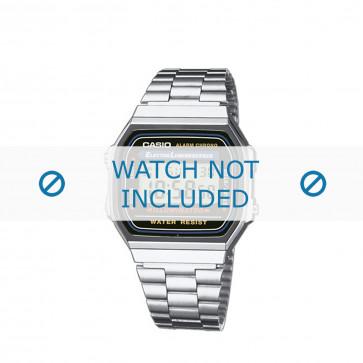 Casio bracelet de montre A168WA-1YES / A168WA-1Y Métal Argent 18mm