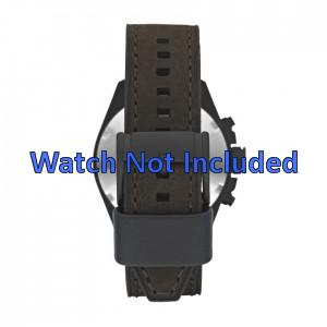 Fossil bracelet de montre CH2804 Cuir Brun 22mm + coutures brunes
