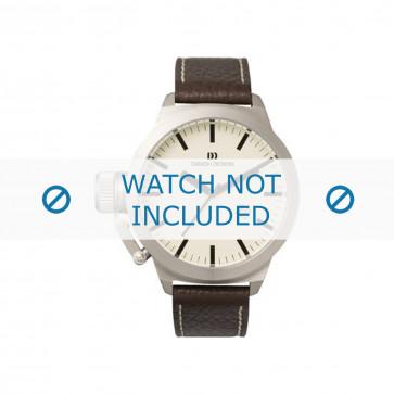 Bracelet de montre Danish Design iQ15Q711 Cuir Brun foncé 20mm