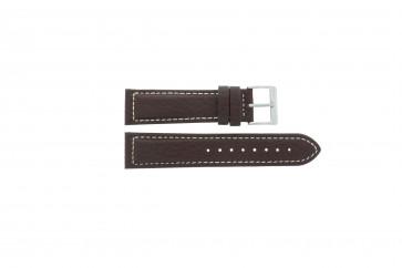 Davis bracelet de montre BB1021 / BB1023 Cuir Brun foncé 22mm