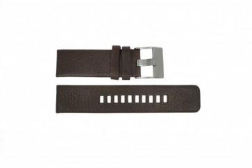 Bracelet de montre Diesel DZ1467 / Screw+Springbar Cuir Brun 24mm